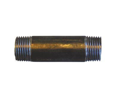 SG nip.rør sort 1/2-500mm