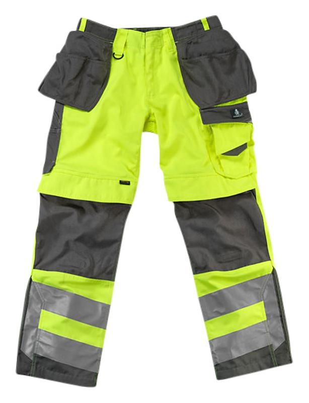 Mascot Wigan arbejdsbukser 82C50 fluorescerende gulmørk