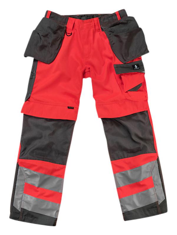 Mascot Wigan arbejdsbukser 82C44 fluorescerende rødmørk